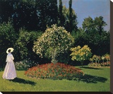 Woman in the Garden, Sainte-Adresse, 1867 Stretched Canvas Print by Monet Claude