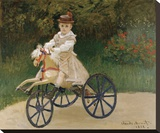 Jean Monet on his Hobby Horse, 1872 Stretched Canvas Print by Claude Monet