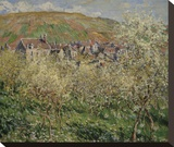 Plum Trees in Blossom, 1879 Stretched Canvas Print by Claude Monet