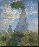 Claude Monet - Woman with a Parasol, 1875 - Şasili Gerilmiş Tuvale Reprodüksiyon