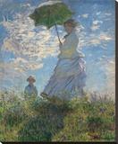 Woman with a Parasol, 1875 Stretched Canvas Print by Claude Monet