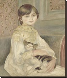 Julie Manet, 1887 Stretched Canvas Print by Renoir Pierre-Auguste