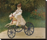 Jean Monet on his Hobby Horse, 1872 Stretched Canvas Print by Monet Claude