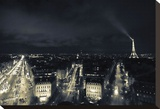Paris Nights I Stretched Canvas Print by Sabri Irmak