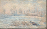 Le Givre, 1880 Stretched Canvas Print by Monet Claude