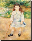 Boy with a Whip, 1885 Stretched Canvas Print by Renoir Pierre-Auguste