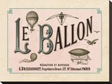 Le Ballon, ca. 1883 Stretched Canvas Print by Unknown Unknown