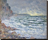 Fécamp, bord de mer, 1881 Stretched Canvas Print by Monet Claude