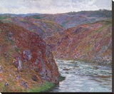 Valley of the Creuse (Gray Day), 1889 Stretched Canvas Print by Monet Claude