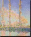 Poplars (Autumn), 1891 Stretched Canvas Print by Monet Claude