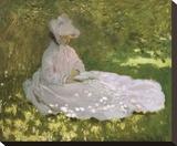Springtime, 1872 Stretched Canvas Print by Claude Monet