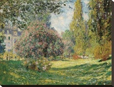 Parc Monceau, 1876 Stretched Canvas Print by Monet Claude