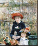 The Two Sisters on the Terrace, 1881 Stretched Canvas Print by Pierre-Auguste Renoir