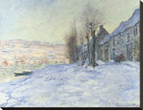 Lavacourt, under Snow, ca. 1878-1881 Stretched Canvas Print by Monet Claude