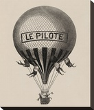 Le Pilote Stretched Canvas Print