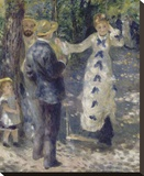 The Swing, 1876 Stretched Canvas Print by Renoir Pierre-Auguste