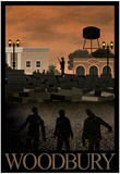 Woodbury Retro Travel Poster Affiche