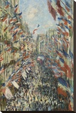 The Rue Montorgueil in Paris Celebration of June 30, 1878 Stretched Canvas Print by Monet Claude