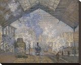 The Saint-Lazare Station, 1877 Stretched Canvas Print by Claude Monet