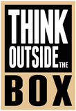 Think Outside the Box Poster Plakát