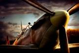 Jachtvliegtuig Spitfire Fotoprint van David Bracher