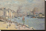 Port of Le Havre, 1874 Stretched Canvas Print by Claude Monet