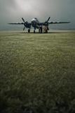 B-25 Mitchell Bomber at Dawn Photographic Print by David Bracher