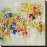 Spring Garden Stretched Canvas Print by Yangyang Pan