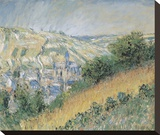 View of Vétheuil, 1881 Stretched Canvas Print by Claude Monet