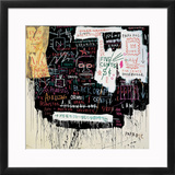 Museum Security (Broadway Meltdown), 1983 Framed Giclee Print by Jean-Michel Basquiat
