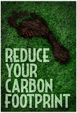 Reduce Your Carbon Footprint Motivational Poster Poster