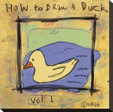How to Draw a Duck Stretched Canvas Print by Brian Nash