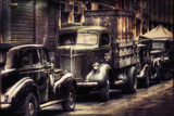 David Bracher - 1940's Side Street - Fotografik Baskı
