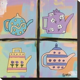 Teapots Stretched Canvas Print by Brian Nash