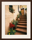 Tuscan Staircase, Italy Framed Photographic Print by Walter Bibikow