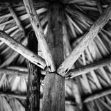Raffia-Style Parasol, Santa Maria Beach, Havana, Cuba Photographic Print by Paul Cooklin