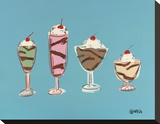 Sundaes Stretched Canvas Print by Brian Nash