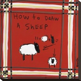 How to Draw a Sheep Stretched Canvas Print by Brian Nash