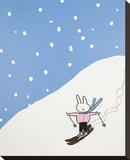 Lala thinks she should have stuck to the Bunny Slope Stretched Canvas Print by Brian Nash