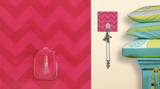 Pink Chevron Magic Hook Wall Decal