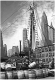 New York City Waterfront 1936 Archival Photo Poster Posters