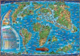 Map of the Prehistoric World, Laminated Educational Poster Photo