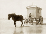 Badewagen in Ostende, 1910 Fotodruck von  Scherl