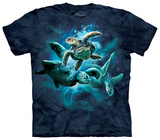 Sea Turtle Collage T-shirts