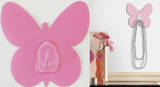 Light Pink Butterfly Magic Hook Wall Decal