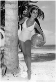 Bathing Suit Girl Archival Photo Poster Print