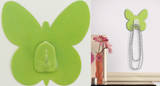 Green Butterfly Magic Hook Wall Decal