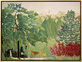 The Waterfall, 1910 Brushstroked Canvas by Henri Rousseau
