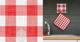 Country Plaid Magic Hooks Wall Decal