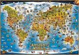 Map of the Ancient World, Laminated Educational Poster Posters